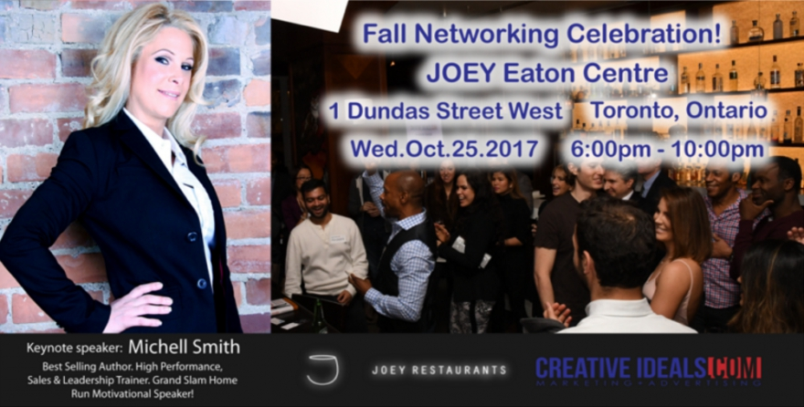 Fall #Networking Celebration at @JOEYRestaurants Eaton Centre! - Featuring Michell Smith #author @matrixthinker #foodies