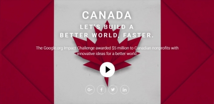 Google Impact Challenge Awards $5 Million to Canadian Nonprofits With Innovative Ideas For A Better World @matrixthinker #startup #business @Googleorg #canada