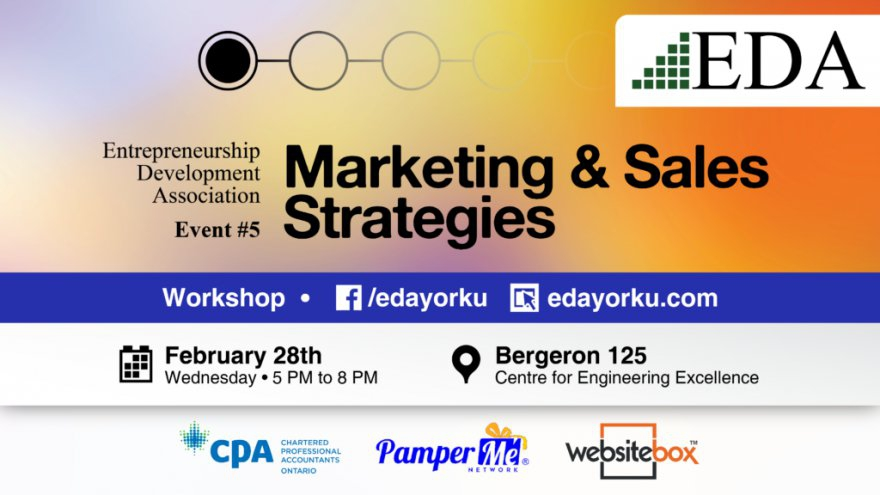 How To Move Products, Build Huge #Sales Teams And Perfect Your #Networking Skills - Learn The Secrets At EDAYork Marketing and Sales Strategies 101 @EDAyorku @matrixthinker #startup #smallbusiness