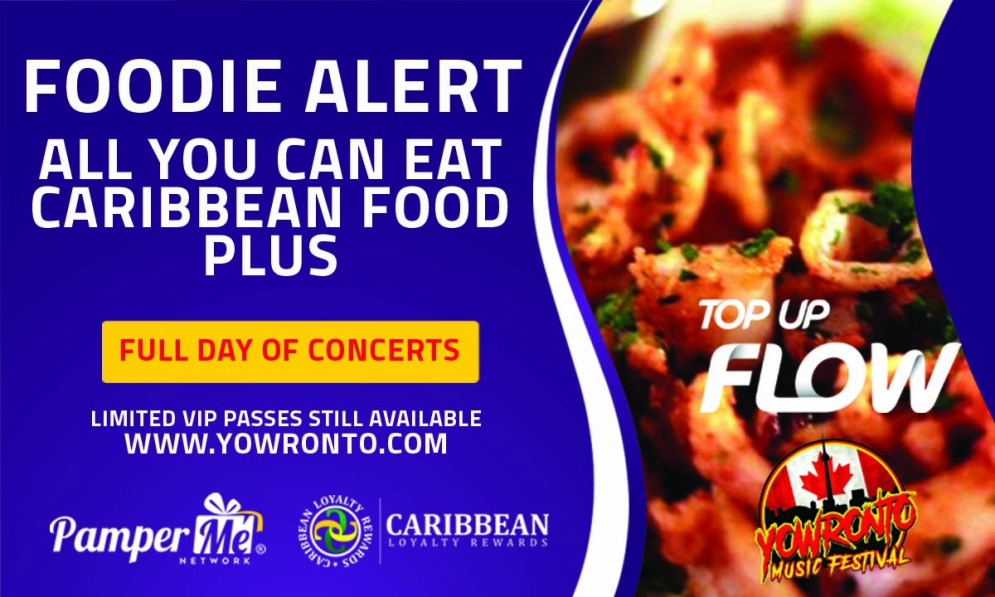 All You Can Eat Caribbean Dishes Plus Full Day Of Performances - Just $150, FLOW @YOWronto @belleenys #foodie @matrixthinker #foodies #canada150